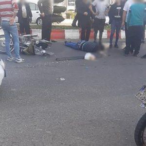 خمام - برخورد با خودرو راکب موتورسیکلت را روانه بیمارستان کرد