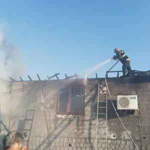 خمام - یکباب منزل مسکونی در روستای کویشا طعمه حریق شد