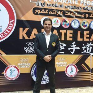 خمام - قضاوت علیرضا نوروزی در مسابقات سوپرلیگ کاراته