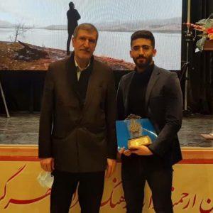 خمام - مقام دوم محمد پورقلیزاده در مسابقات ملی خوشنویسی «هل اتی»