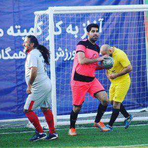 خمام - دروازهبانی امیررضا پوررمضانعلی و پیروزی تیم ورزشکاران در مصاف با هنرمندان