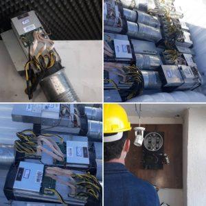 خمام - ۱۲ دستگاه استخراج ارز دیجیتال در خمام کشف شد