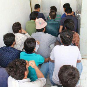 خمام - ۱۲ نفر از اتباع خارجی غیرمجاز دستگیر شدند