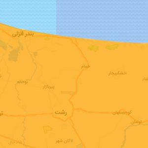 خمام - شهرستان خمام به وضعیت نارنجی بازگشت
