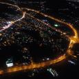 تصاویر هوایی از شهر خمام در شب