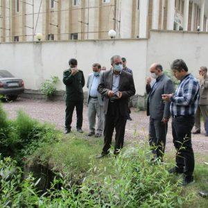 خمام - لولهگذاری خیابان حافظ درحال انجام است / بخشیاز رودخانه در محدوده خیابان پاسداران سرپوشیده میشود