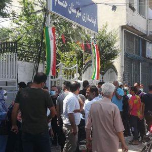 خمام - تجمع اهالی خیابان بهشتی برای روشنشدن وضعیت املاک و اراضی موقوفه خاص